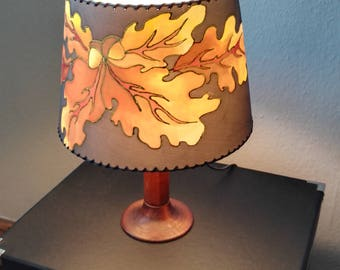 Oak leaf lampshade
