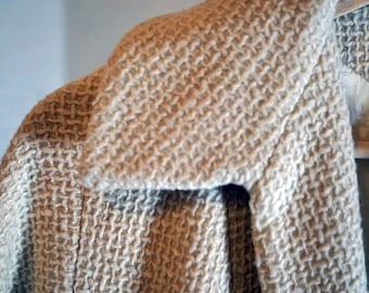 Vintage Waffle Weave Wool Coat