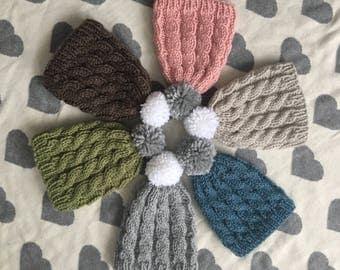 Newborn toque / Newborn cable toque / Newborn hat