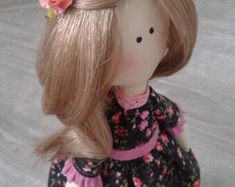 Textile doll Alice