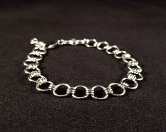 Stainless Steel Chainmaille Charm Bracelet