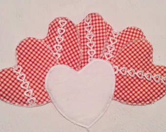 Remover pads washable reusable eco-friendly hearts