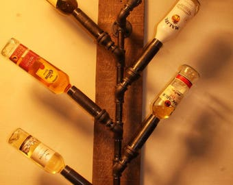 "The ""Zipper"" Wall Mount Wine Rack"