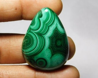 AAA++++ quality Malachite Cabochon,Loose Stone,Gemstone,Gorgeous Malachite Cabochon Excellent Gemstone 100%Natural 163.00cts.(40x29x6)mm