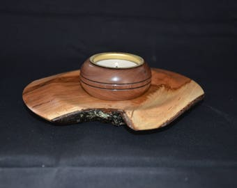 Hand Turned Cherry Tealight
