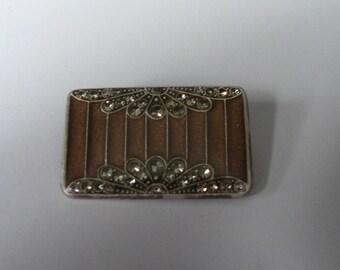 Catherine Popesco Enamel Art Deco Style Brooch