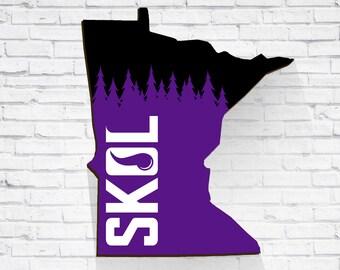 SKOL Minnesota Vikings Art Super Bowl 52