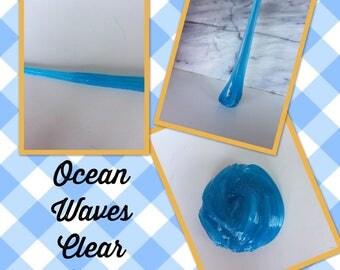 Ocean Waves Clear Slime