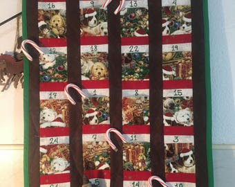 Advent Calendar Quilted Santa Wall Hanging Children's : advent calendar quilt - Adamdwight.com