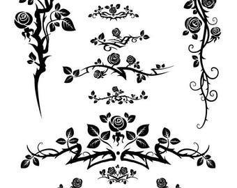 Rose svg,Flower svg,Cuttable Design Files (svg,dxf,eps,jpg ) For Silhouette Studio,Cricut Design Space , Instant Download ,Cutting Machines