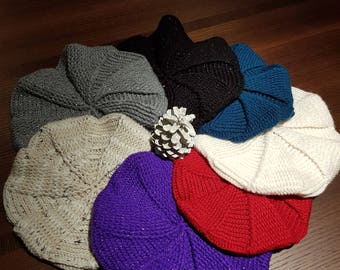 Warm winter hats in various colours