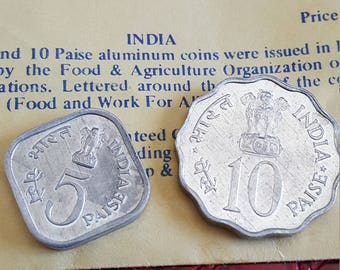 India  5 and 10 Paise 1976 UNC