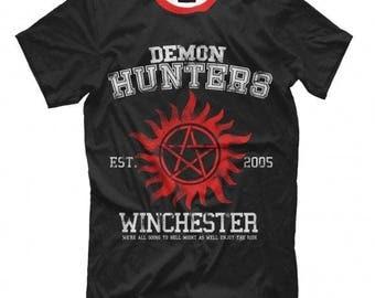 Supernatural Demon Hunters Art Full Print T-Shirt All Sizes XS-6XL