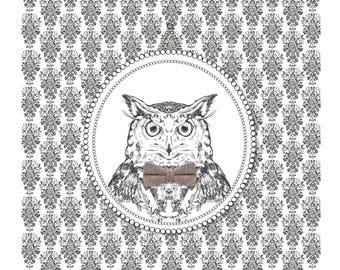 Aristocratic Owl Print