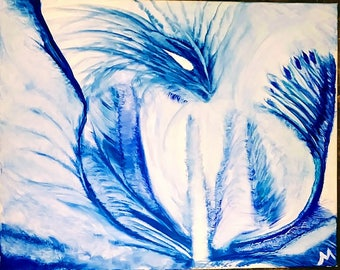 "One of a Kind - Oil on Canvas ""Dragon Ice"""