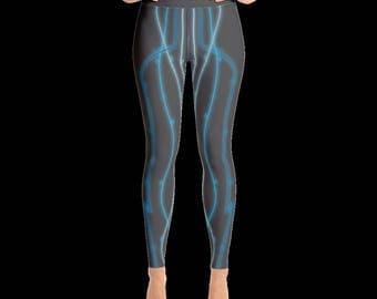 Yoga Leggings 12 Traditonal Chinese Medicine Meridians Edition