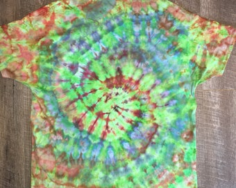 Iced tie dye. Primary colors