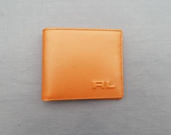 polo ralph lauren purple label wallet 100% original, leather, gold