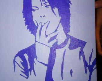 Bowie in blue original artwork