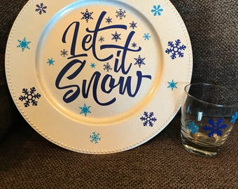 Let it Snow Cookies and Milk set for Santa