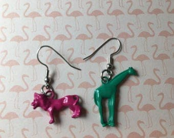 Lions and Giraffes, Oh My! Earrings
