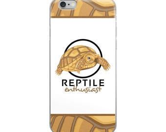 Tortoise Lover's iPhone Case - Reptile Enthusiast - African Spurred Tortoise