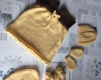 Set for baby knitting pattern (newborn)