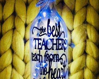 Teacher LED Light Up Bottle