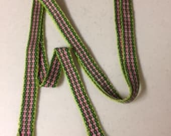 Inkle band, hand woven strap