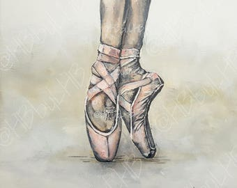 Ballet Pointe _On canvas