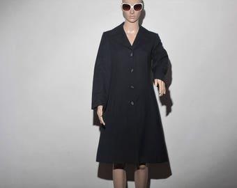 Trench coat black 60s