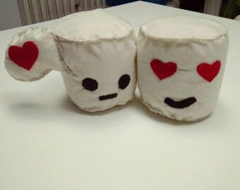 Marshmallow innamorati in feltro