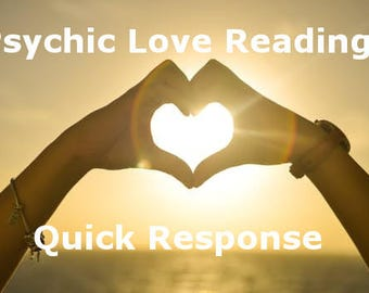 Same Day Love Reading, Psychic Reading by Email with PDF attachment, Psychic Reading, Relationships, Love and Romance Reading by Email
