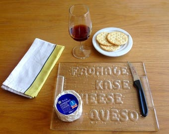 Fused Glass Handmade Cheese Board