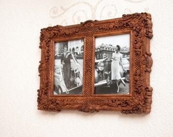 "Wooden photo frame ""Medea"" two windows"