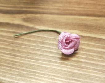 Individual Pink Paper Flower