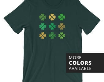 Men's Luck of the Irish T-shirt | St Patrick's Day | St Paddy's Day | St Patty's Day | Ireland Pride | Green & Gold | Lucky Clover