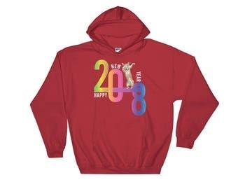 Corgi Hoodie Year of the Dog 2018 New Year Sweatshirt
