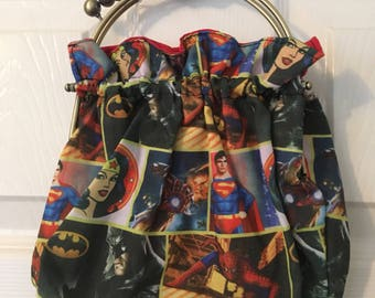 Framed superhero handbag for ladies and teens