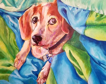 Personalised Pet Portrait Pianting - Realistic & Colorful