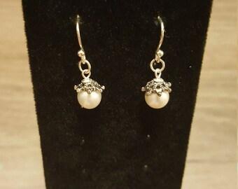 Akoya White Pearl Earrings