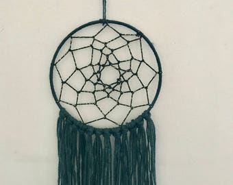Green and gold dream catcher