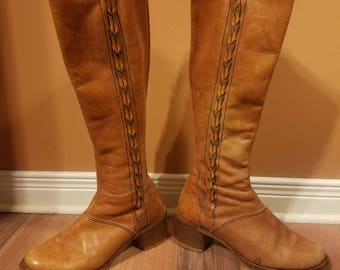Vintage 70'style Boots- size 6.5