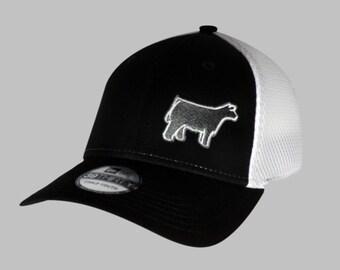 Kids FlexFit Hat with Steer or Pig