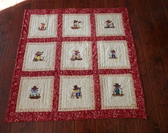 Cowboy and Cowgirl quilt