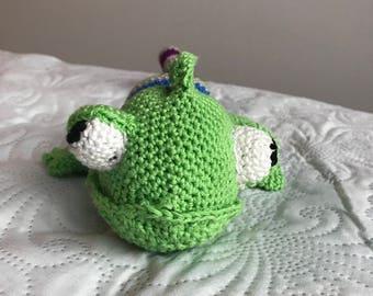 crochet chameleon plushie handmade gift