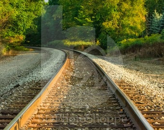 Old Train Tracks | Landscape Photo Art | Nature Lover Gift | Fine Art Photography | Personalization | BDPhotoShoppe | Home Office Decor