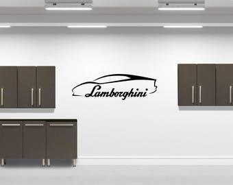 Lamborghini Silhouette  Vinyl Decal
