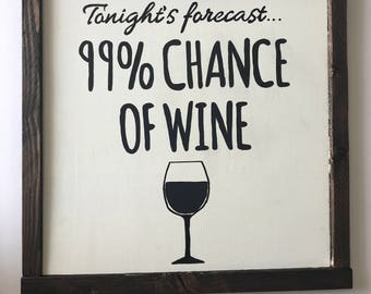 Tonight's forecast - wine