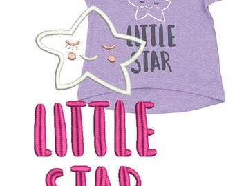 Machine Embroidery Design - Little star  4*4, 5*5, 6*6